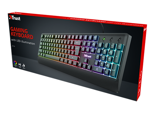Teclado LED Ziva Gaming Rainbow
