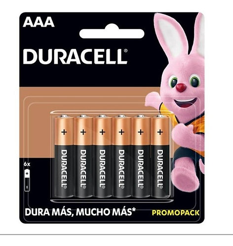 Pilas DURACELL AAA Pack 6 unidades
