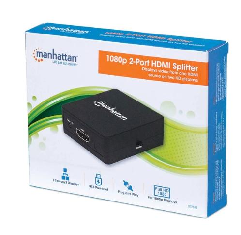 Video Splitter HDMI de 2 puertos 1080p