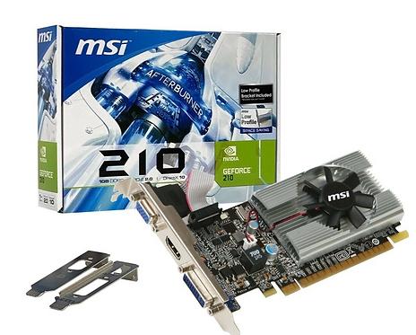 Tarjeta de Video GeForce 210 MSI