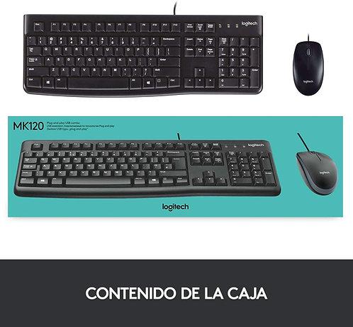 TECLADO+MOUSE LOGITECH MK120