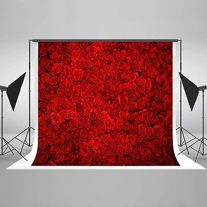 Red Rose Flowers Backdrop