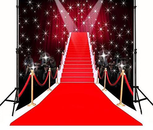 Red Carpet Paparazzi Hollywood Backdrop