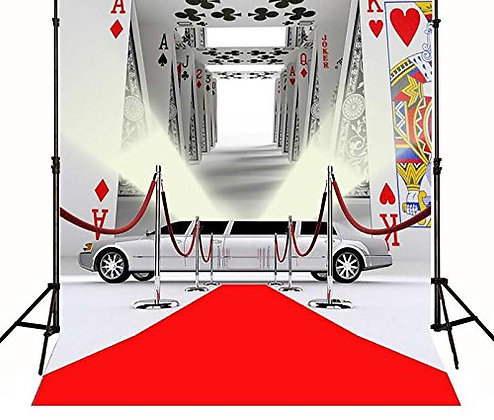 Red Carpet Casino Poker Backdrop