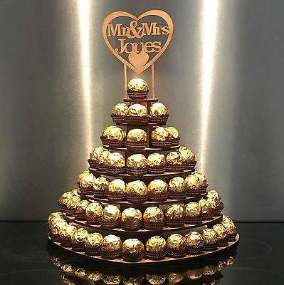 Personalised Ferrero Rocher Heart Display