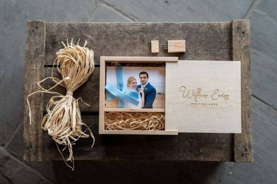 Personalised Maple Woodland USB & Photo Slide Box Bundle