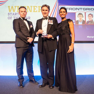 Naga Munchetty presents an award