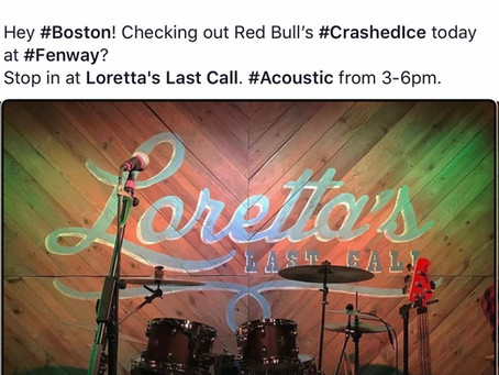 Acoustic at Loretta's today!