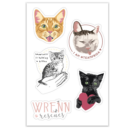 Wrenn Rescues Sticker Sheet