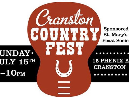 Cranston Country Fest this Sunday!