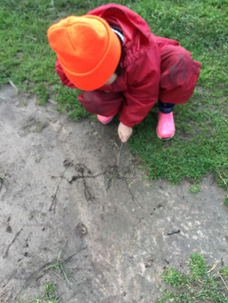 Drawing in the mud