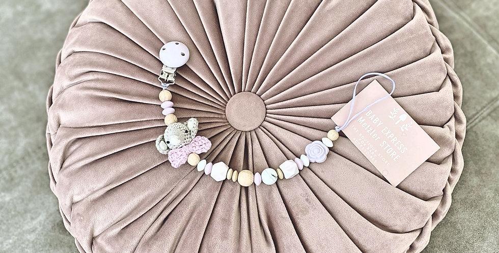 Dumbo versandfertige Nuggikette lila-marmoriert-holz