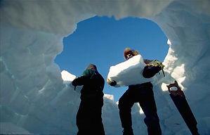 costruiamo l'igloo con i nostri colleghi