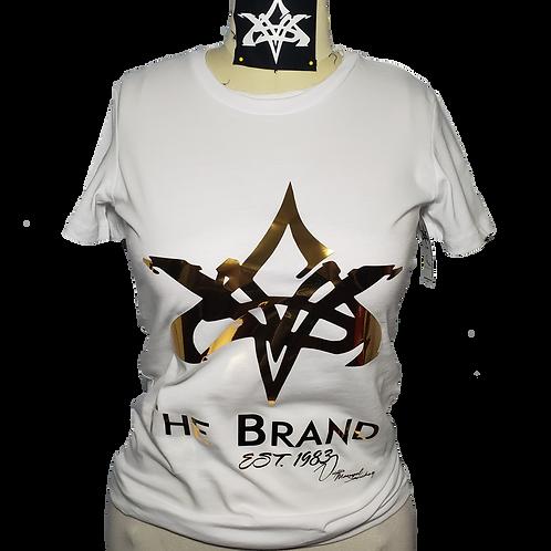 VMS White/Golden T Shirt