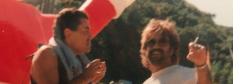 Shuki Levy and Haim Saban at the Saban Entertainment Company Picnic
