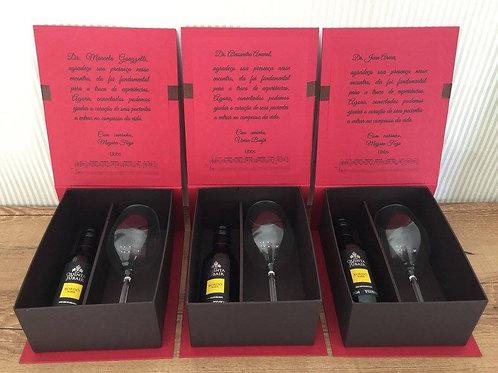 Caixa de Vinho 375ml + Taça