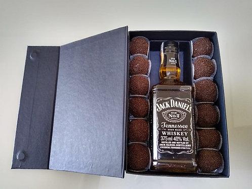 Caixa de Wisky 375 ml com dois vãos para doces - DS21146FI