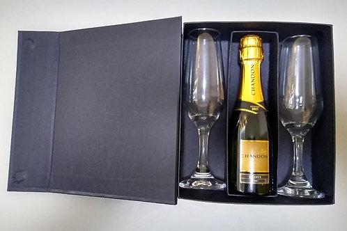 Caixa de Mini Espumante + 2 Taças - DS21136FI