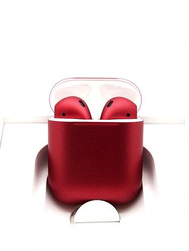 Чехол силиконовый для Apple Airpods бордовый