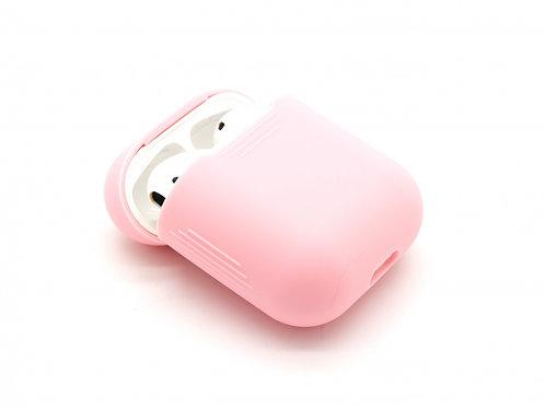 Чехол силиконовый для Apple Airpods розовый