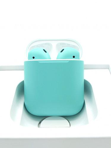 Чехол силиконовый для Apple Airpods бирюзовый