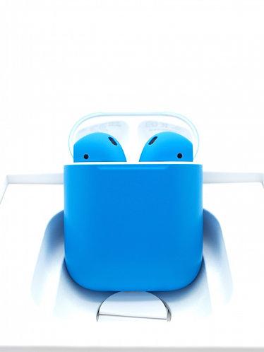 Чехол силиконовый для Apple Airpods голубой