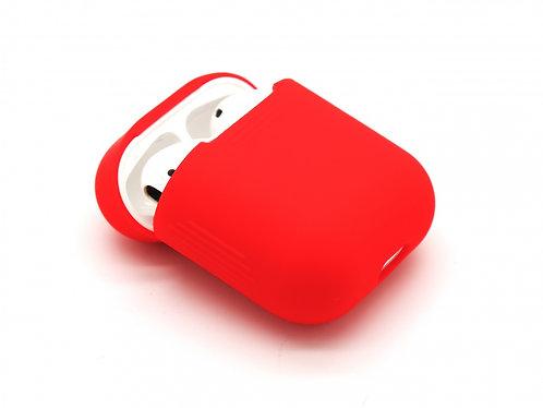 Чехол силиконовый для Apple Airpods красный