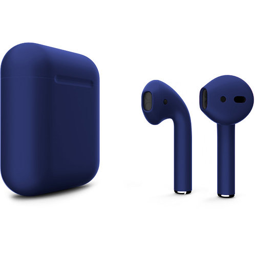 Наушники Apple AirPods 2 Синие в зарядном футляре