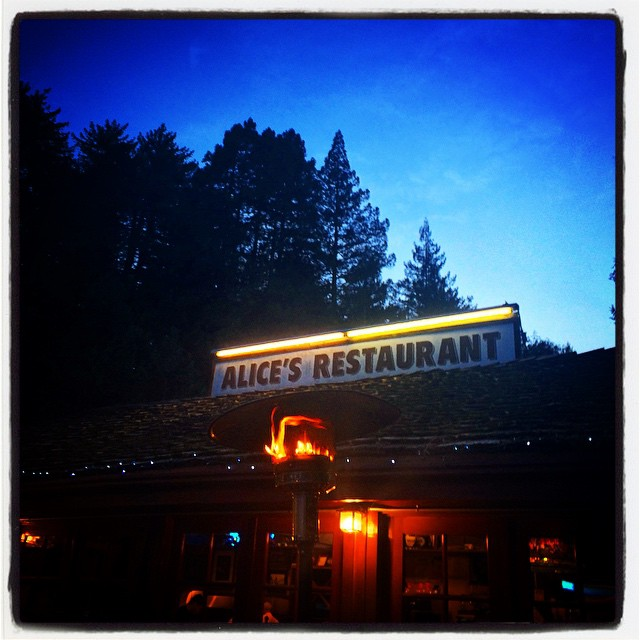 #alicesrestaurant #cathedralofspeed #skylonda #woodside #sunset