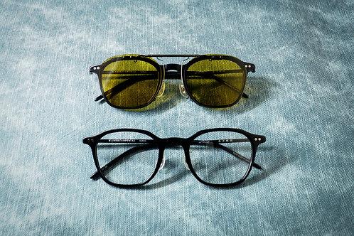 金子眼鏡 KJ56 黑 連1.6/1.67 Klar by ZEISS 鏡片