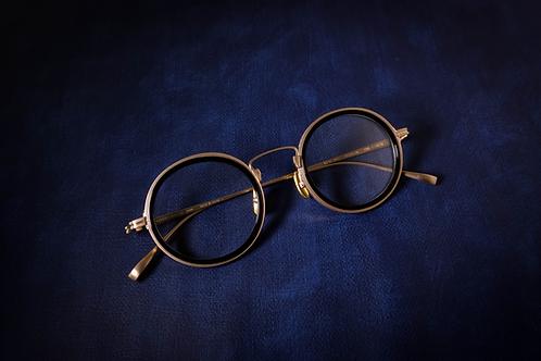 金子眼鏡 KJ51 黑金 連 1.6/1.67 Klar by ZEISS 鏡