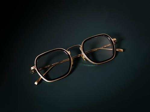 金子眼鏡 KJ53 黑金 連 1.6 Klar by ZEISS 鏡
