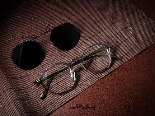 金子眼鏡 KJ42 透明灰 連1.6/1.67 Klar by ZEISS 鏡片