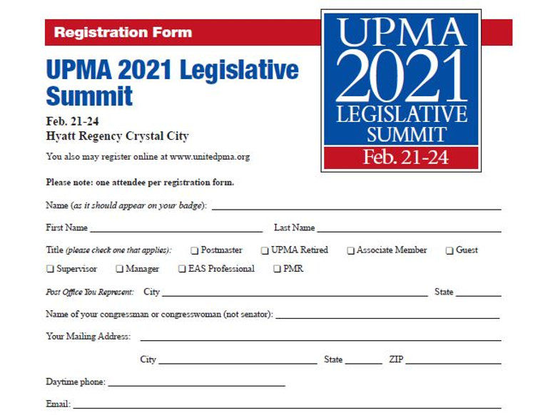 Legislative Summit 2021 Registration For