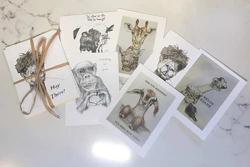 Animals with a Message Cards