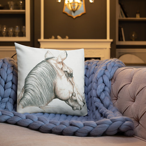 Whimsical Horse Premium Pillow