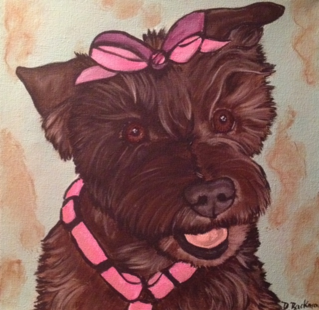 Contemporary Painted Pet Portrait
