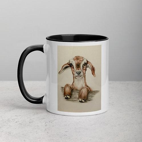 Kidding Goat Mug with Color Inside