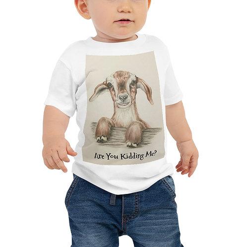 Kidding Me Goat Baby Jersey Short Sleeve Tee