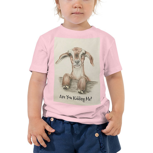 Kidding Me Goat Toddler Short Sleeve Tee