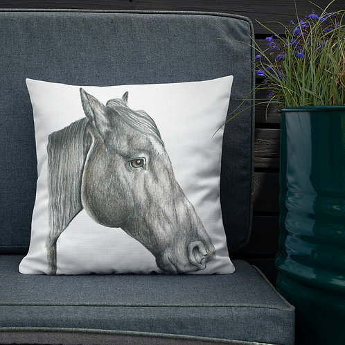 Horse Profile Premium Pillow
