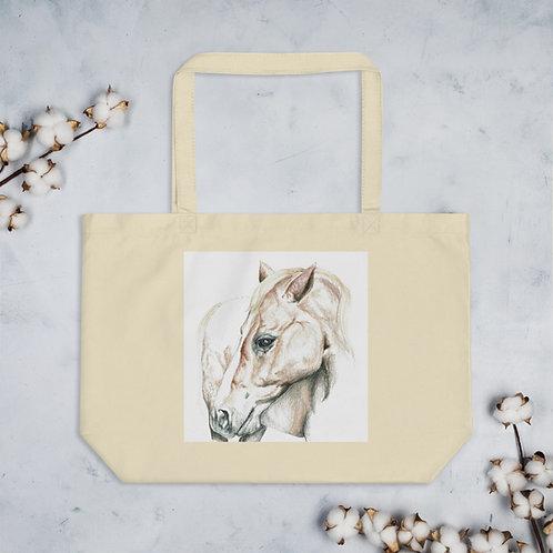 Whimsical Horse Large organic tote bag