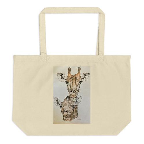 Giraffe Large organic tote bag