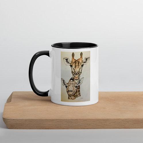 Giraffes Mug with Color Inside