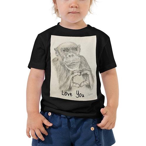 Chimp Love Toddler Short Sleeve Tee