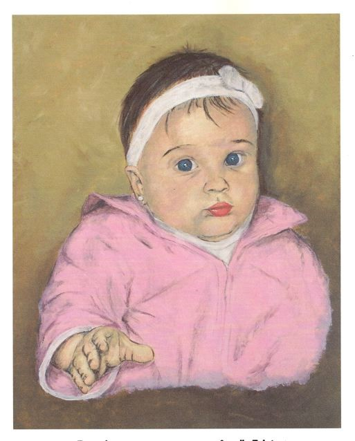 Painted Baby Portrait