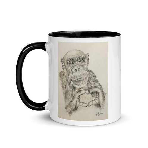 Chimp Love Mug with Color Inside