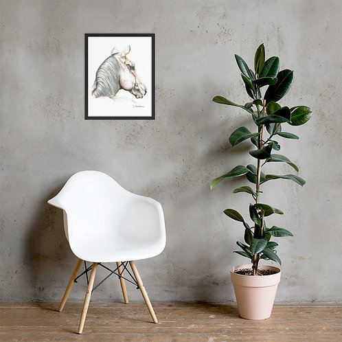Looking Away Horse Framed poster