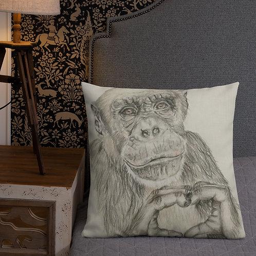 Chimp Love Premium Pillow
