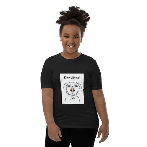 Smiling Pittie Youth Short Sleeve T-Shirt